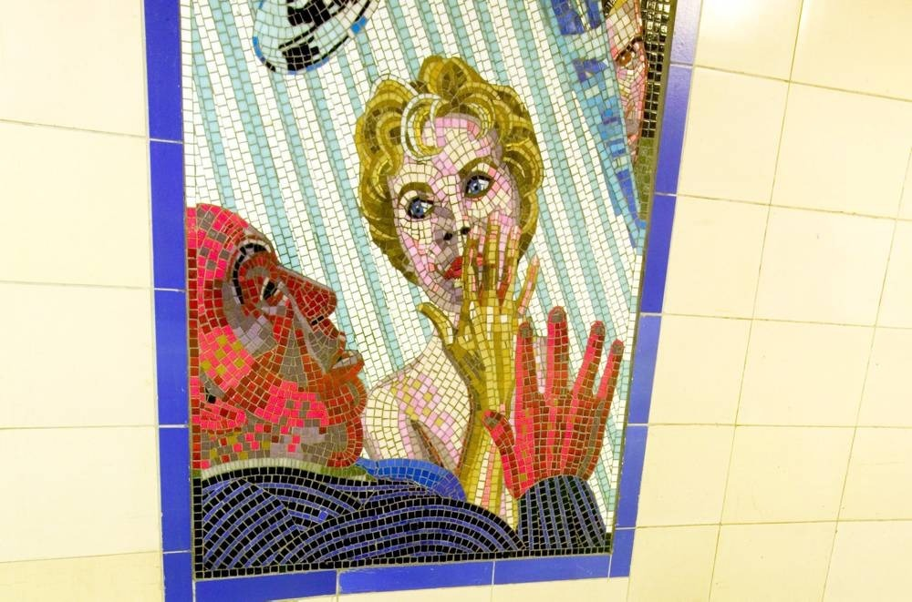 See the Alfred Hitchcok mosaics at Leytonstone tube