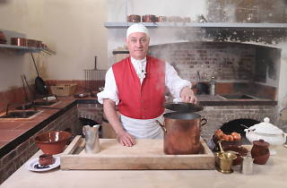 Preparing a dish for King George III in the Royal Kitchens at Kew 2.JPG