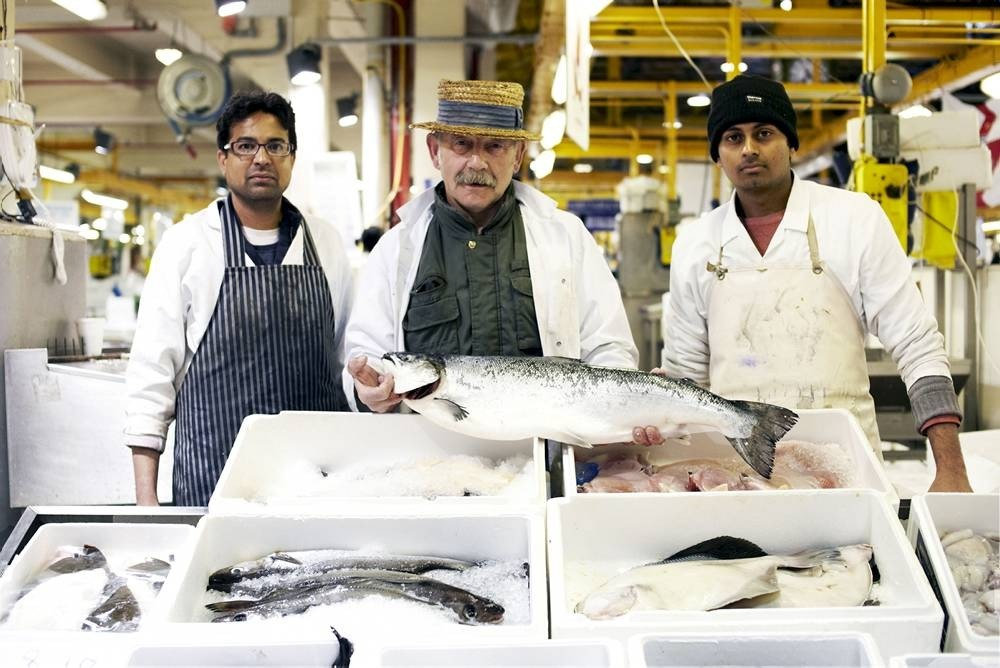 Filling up at the market: Billingsgate