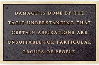 Jenny Holzer, Sprüth Magers London. Sophisticated Devices. Living Damage is done by the tacit understanding… , 1981.jpg
