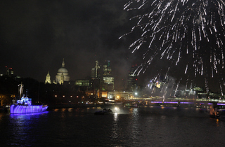 New Year's Eve 2012: Celebration View On Board HQS Wellington