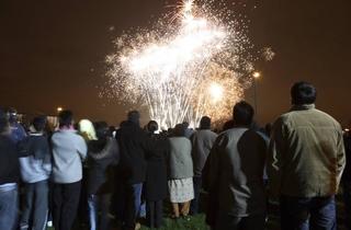 Barking Park Fireworks 2012
