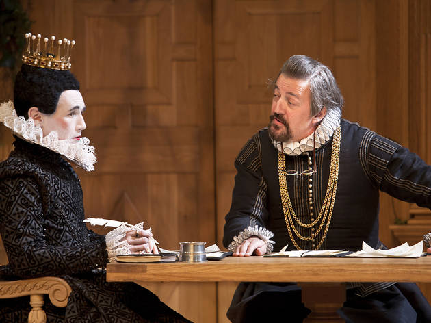 Mark Rylance (Olivia) and Stephen Fry (Malvolio) in Twelfth Night at the Apollo Theatre. Photo credit Simon Annand.jpg
