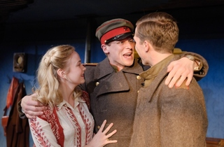 Joanna Vanderham (Lika), Max Bennet (Marat) and Gwilym Lee (Leonidik).  Photo by Simon Kane. (292).jpg