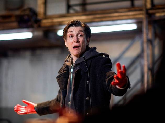 Julius Caesar, directed by Phyllida Lloyd, Donmar Warehouse. Harriet Walter as Brutus (3). Photo by Helen Maybanks.jpg