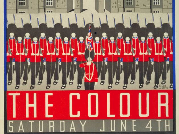 (The Trooping of the Colour by Margaret Calkin James, 1932© London Transport Museum)