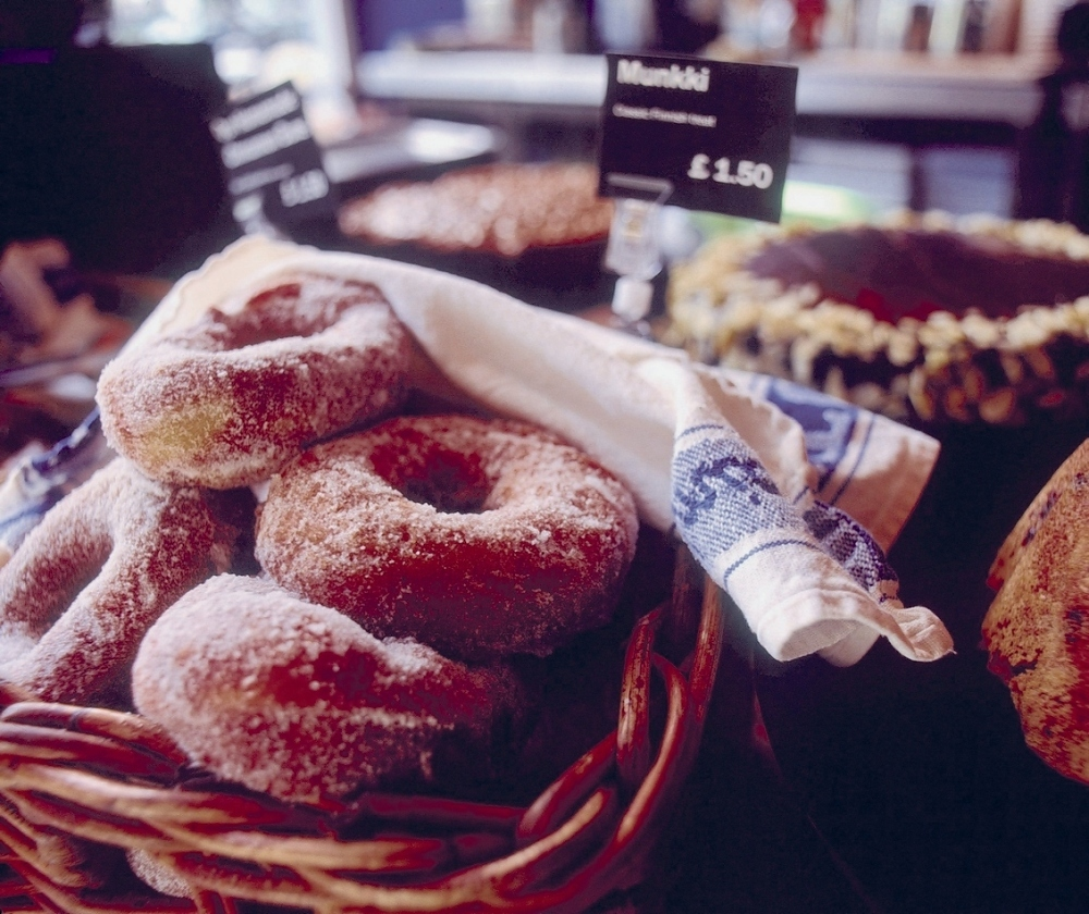 Enjoying a festive treat from Nordic Bakery