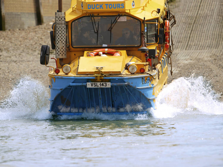 Drive into the Thames with Duck Tours