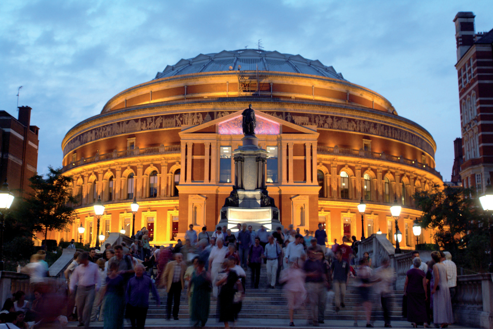Night Time Queue at the Royal Albert Hall.jpg