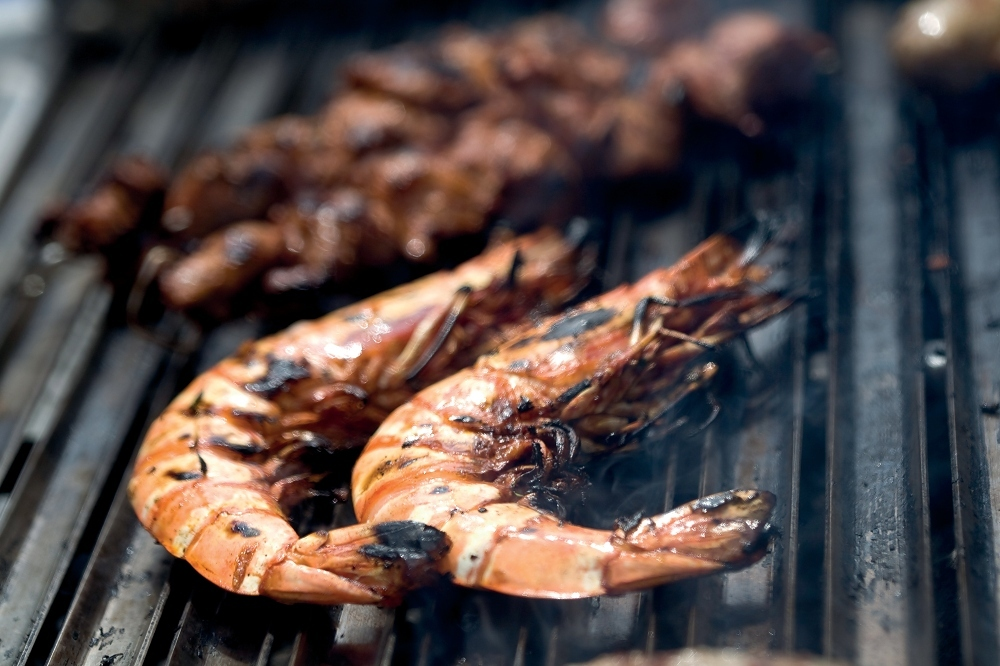 Prawns grilled to perfection