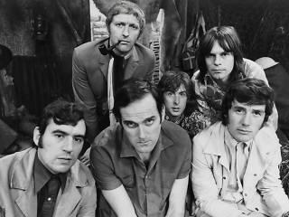 The Monty Python team in 1969