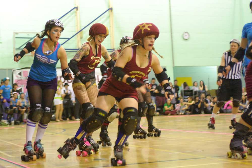 Get aggressive with the London Roller Girls