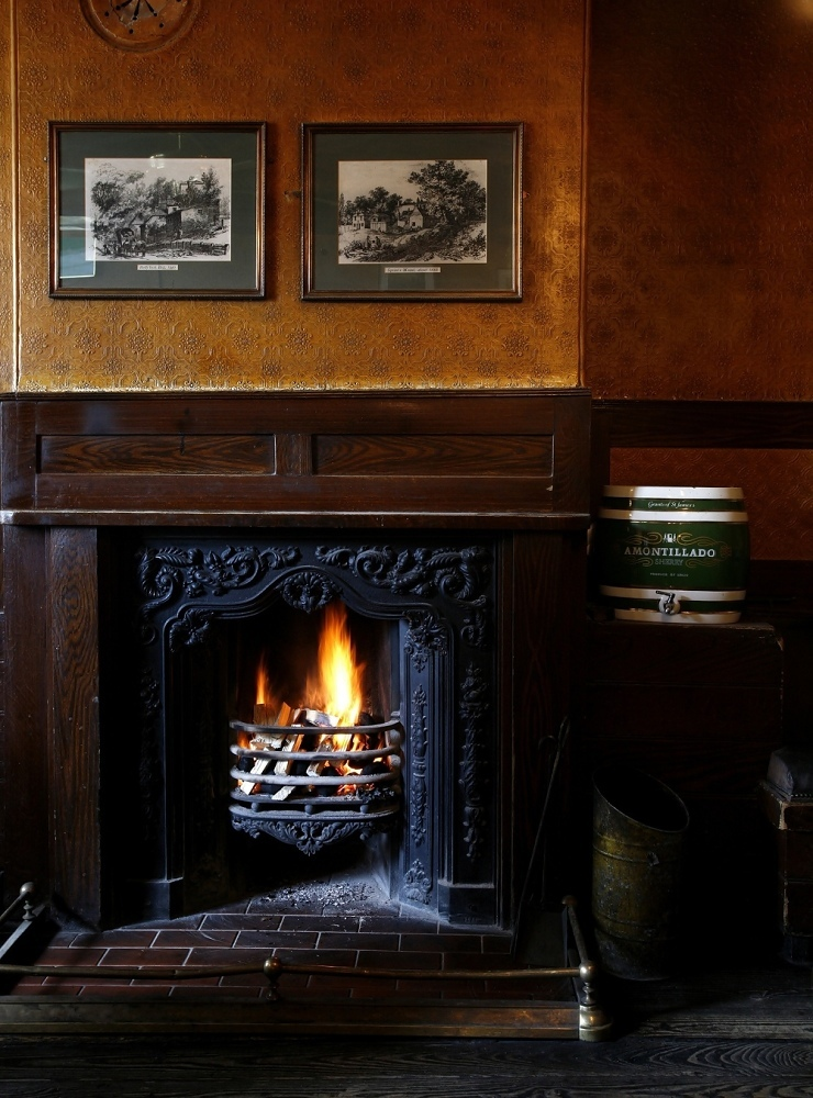 Cosy up next to a real fire in a quaint old pub
