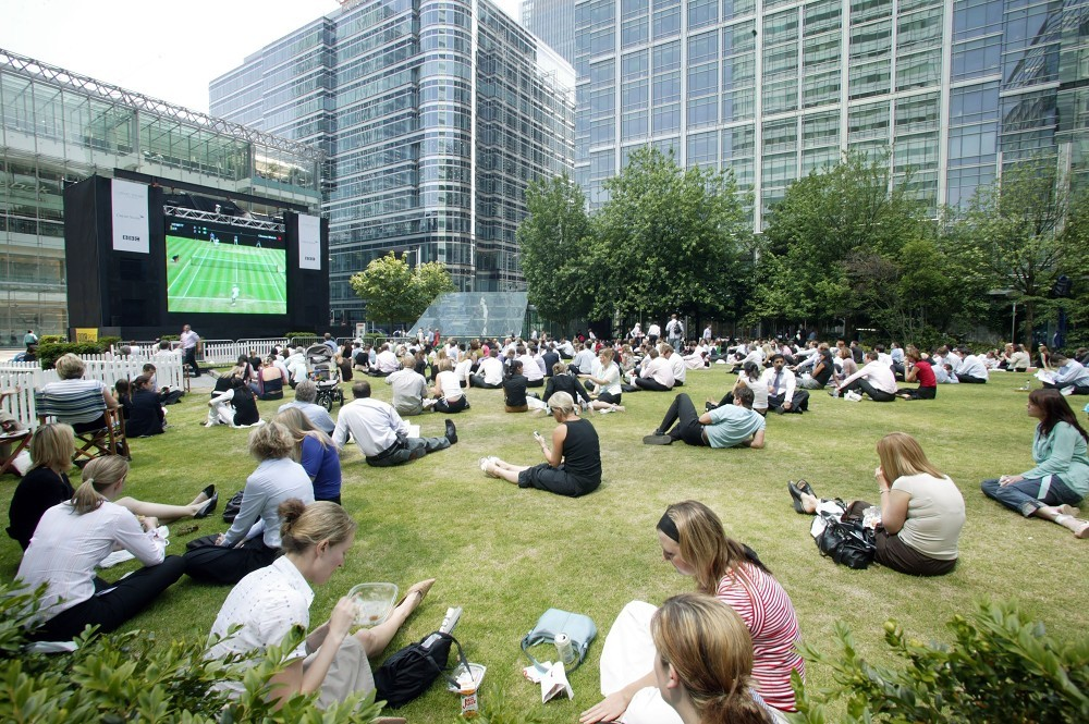 Wimbledon on the big screen