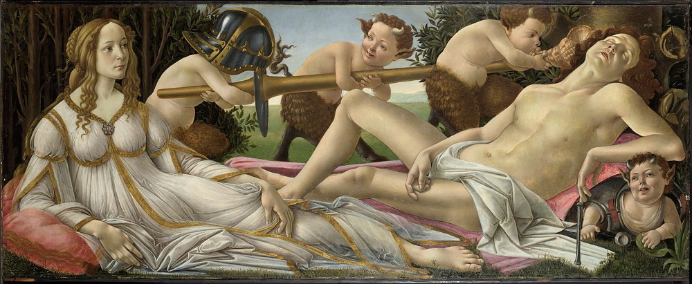 'Venus and Mars', 1485, by Botticelli