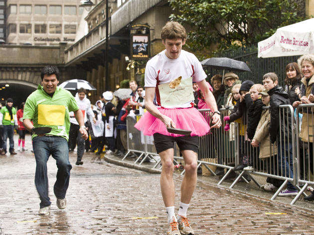 Pancake Day races in London