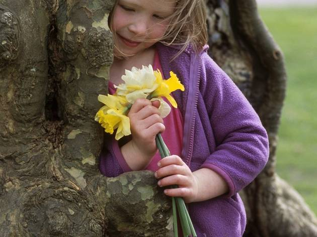 Child with Spring posy by tree (2).jpg