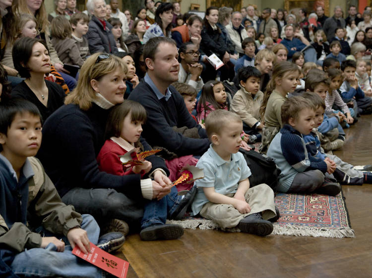 Listen to stories on a magic carpet at the National Gallery