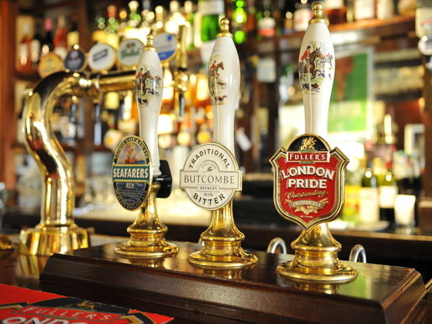 west end pubs beer taps newman arms.jpg