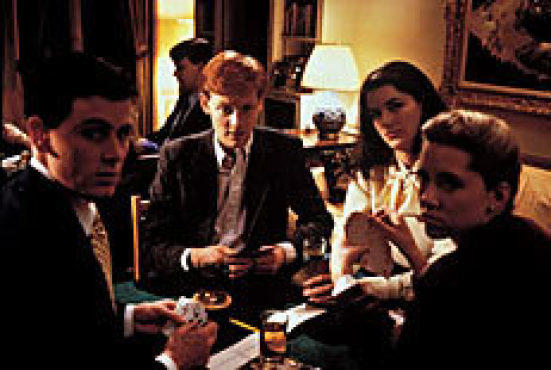 BRIDGE OVER TROUBLED WATER Eigeman, left, hits the card table with his Sally Fowler Rat Pack cronies in Metropolitan.