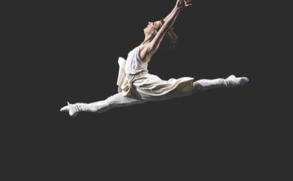 LEAPS AND BOUNDS Messmer takes flight in Twyla Tharp's Baker's Dozen.