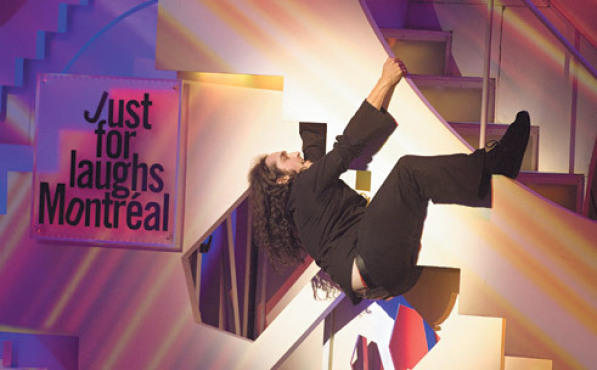 WONDER WALL Ross Noble proves his unpredictability at a gala.