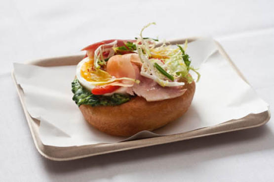 Ham and egg Florentine en brioche at picerie Boulud