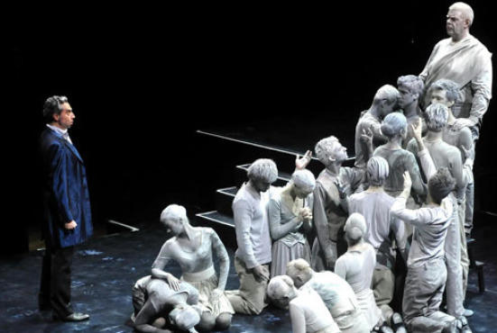 Leporello faced the Commendatore and his minions in Mostly Mozart's Don Giovanni.