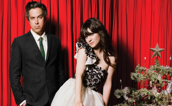 She And Him Christmas.Zooey Deschanel And M Ward On A Very She Him Christmas