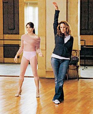 WALK THIS WAY Fletcher shows Dewan some moves.