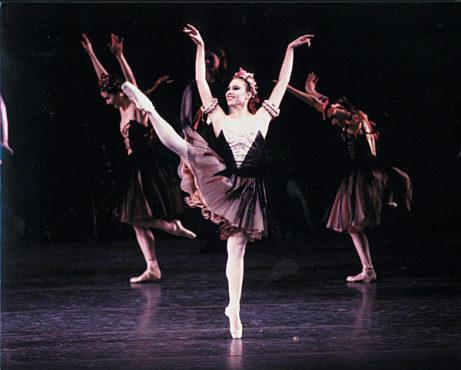 SHINING STAR Meunier dances, back in her NYCB days.