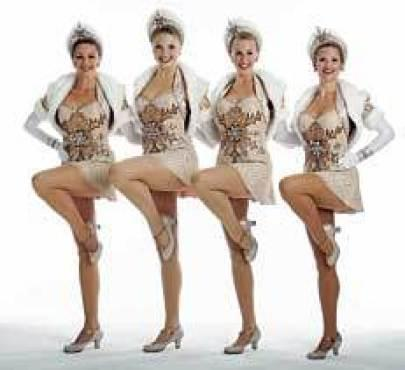 GET YOUR KICKS The Rockettes go out on a limb.