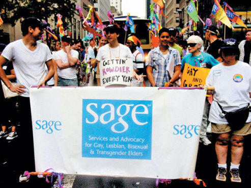 STILL HERE, STILL QUEER The SAGE contingent is always a big hit at Gay Pride.