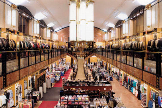 In Manhattan: Century 21, a mammoth discount department store, is the