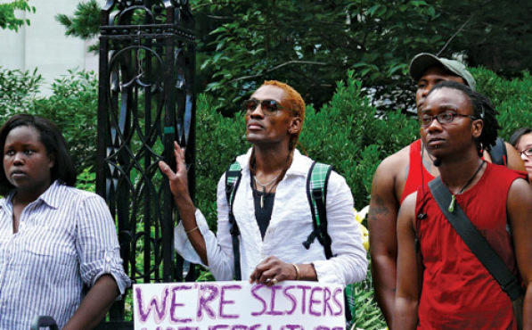 SIGN, SEAL, DELIVER The Audre Lorde Project brought its message to the masses by co-organizing the annual Trans Day of Action in June.