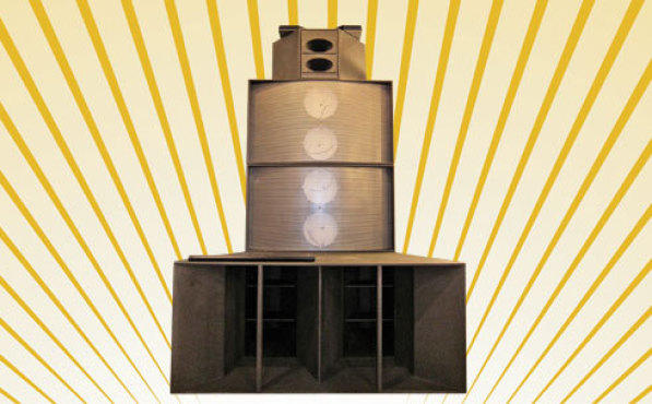 SPEAKERS' CORNER Multiply this behemoth by four, and you've got one powerful sound system.