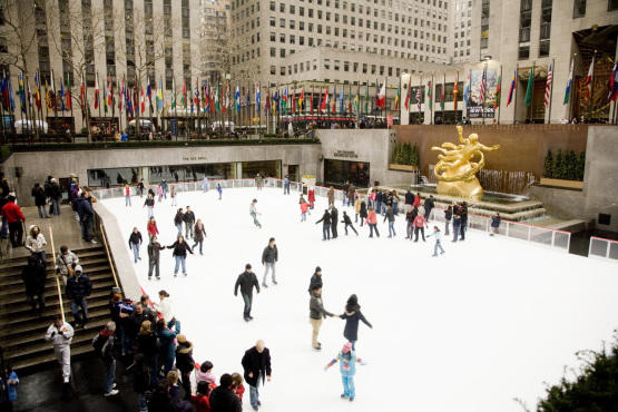 Rockefeller Center skate ring