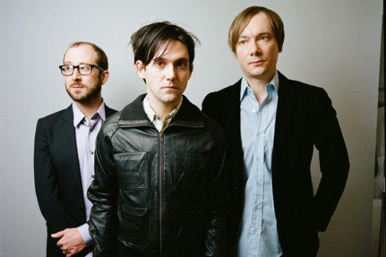THREE'S A CROWD In addition to Conor Oberst (center), Bright Eyes includes Mike Mogis (left) and Nate Walcott.