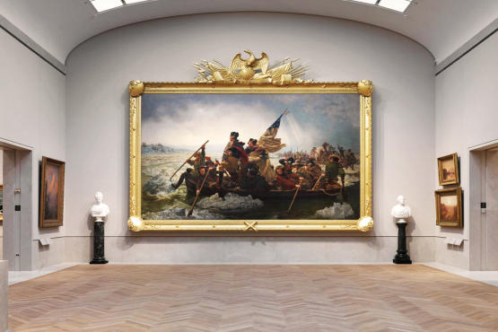 Washington Crossing the Delaware at the New American Wing
