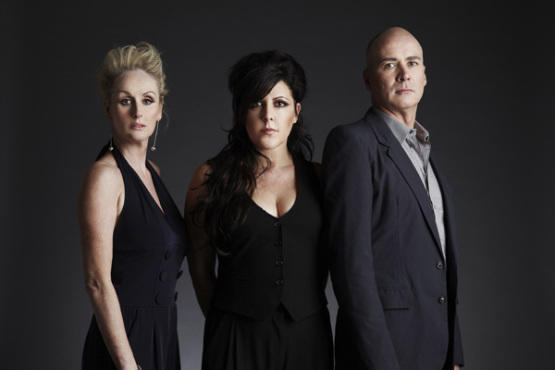 The Human League's Susan Ann Sulley, Joanne Catherall and Philip Oakey, from left