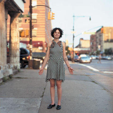 GRIMM TIDINGS Singer-songwriter Larkin Grimm chronicles a berserk American experience on her new album, Parplar.