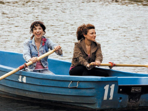 SMOOTH SAILING Sally Hawkins, left, keeps a steady course in Happy-Go-Lucky, the only movie to appear on all three TONY Film staffers best-of lists.