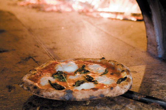 The Margherita DOC pizza