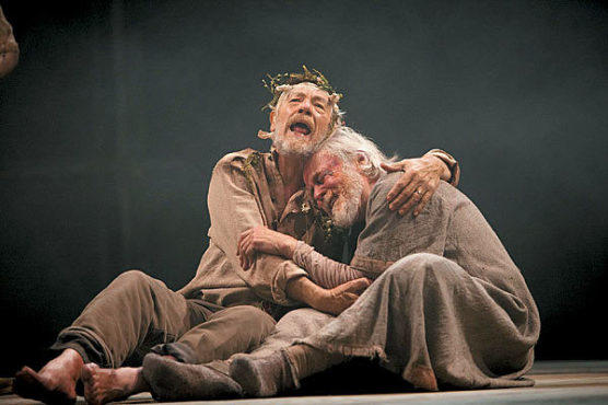 VISION QUEST McKellen, left, gives cold comfort to blinded William Gaunt.