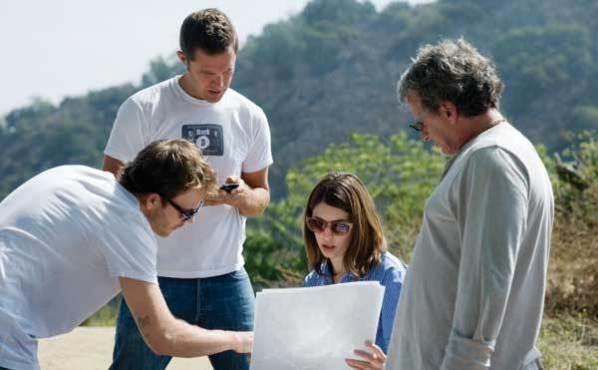 <p><strong>MADE IN THE SHADES</strong> Coppola, center, quietly commands her set.</p>