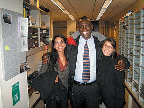 SAFE HAVEN Simrin Parmar, left, and Jennifer Stark helped Ven Messam win asylum.