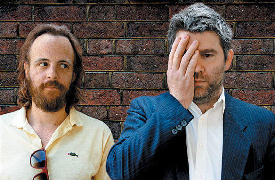 MATERIAL BOYS Pat Mahoney, left, and James Murphy stitch up a deluxe disco mix for the Fabriclive series.