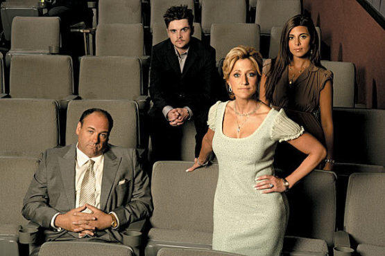 FAMILY SNAPSHOT Sopranos stars James Gandolfini, Robert Iler Jr., Edie Falco and Jamie-Lynn Sigler, from left, made the year's classiest exit.
