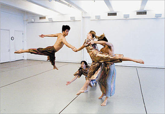 HANDOUT Company members run through Foray Forêt in the studio.