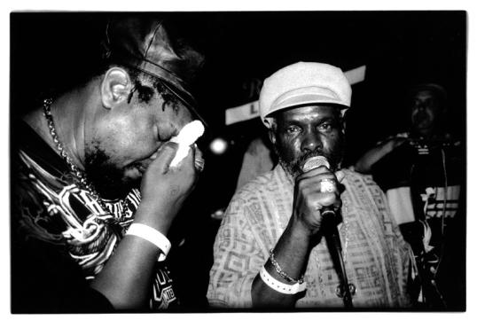 Ranking Joe, left, and Johnny Osbourne at Downtown Top-Ranking